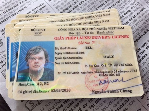 VIETNAM MOTORBIKE DRIVING LICENSE FOR FOREIGNERS