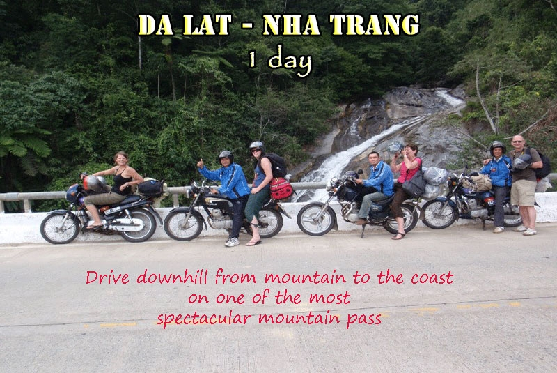 Dalat Easyrider private Day Tour to Nhatrang in 1 day