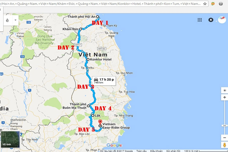 Motorbike-tour-hoian-dalat-5-days-maps
