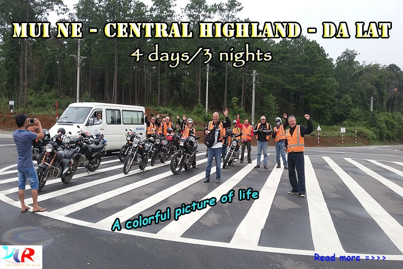 Muine Easyrider Motorbike Tour to Central Highland to Da Lat in 4 days