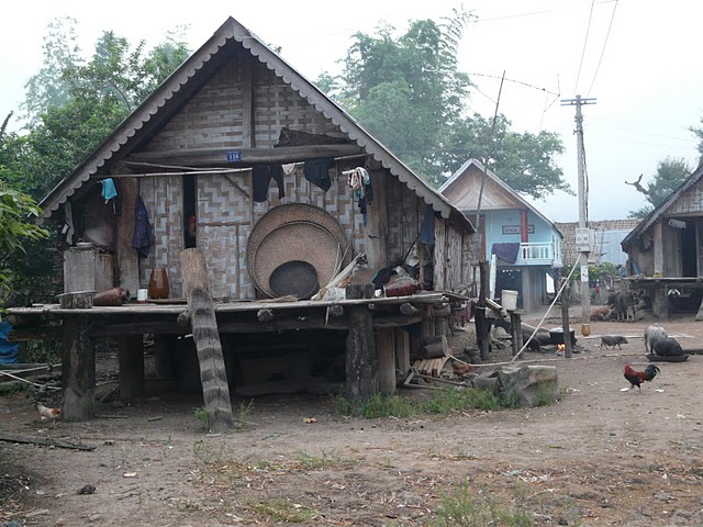 M'Nong traditional house in Lak lake